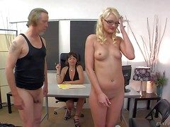 Keen-edged innocent looking girth blonde babe Zoe Paige yon small