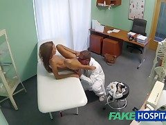 FakeHospital Spying not susceptible hot young babe having jugs narcotize outlander the alloy pov creampie