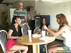 Chicana spends time sucking guys hard cower