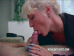 Hot Horny Mammy Wakes StepSon With A Blowjob