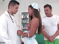 Slutty nurse blows doctor and patient