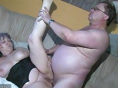 Round Grannma and her gf BBW Nurse have phat joy