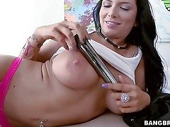 Romi Rain is a big titted milfy dark-haired honey who