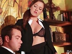 Assistant Maddy Oreilly entices her boss