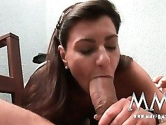 German mature wife gets the salami inside her