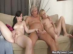 His mom toying while dad nailing his GF